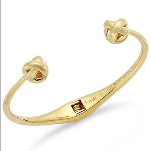 Kate Spade Gold Tone Knot Cuff Bracelet